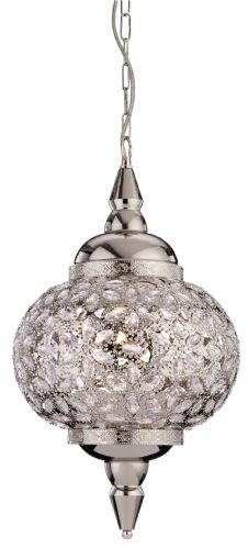 Firstlight 8648CH Chrome with Clear Acrylic Taj Pendant
